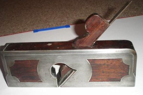 C. Bayfield Skewed Cast Iron Infill Rabbet Plane